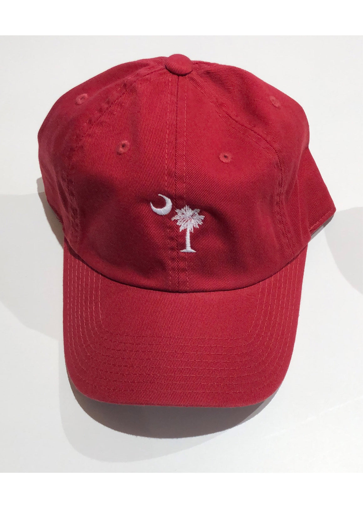 Washed Slouch Embroidered Palmetto Hat | Crimson