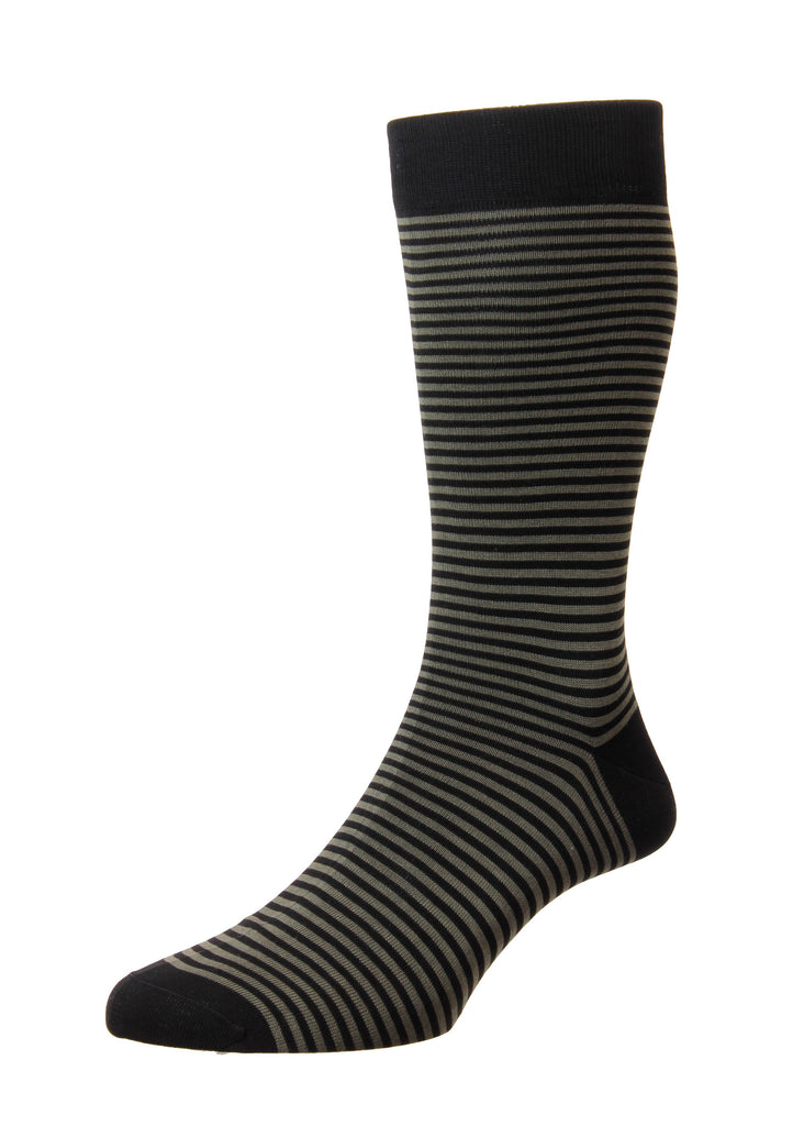 Pantherella Farringdon Socks | Black and Gold - Jordan Lash Charleston