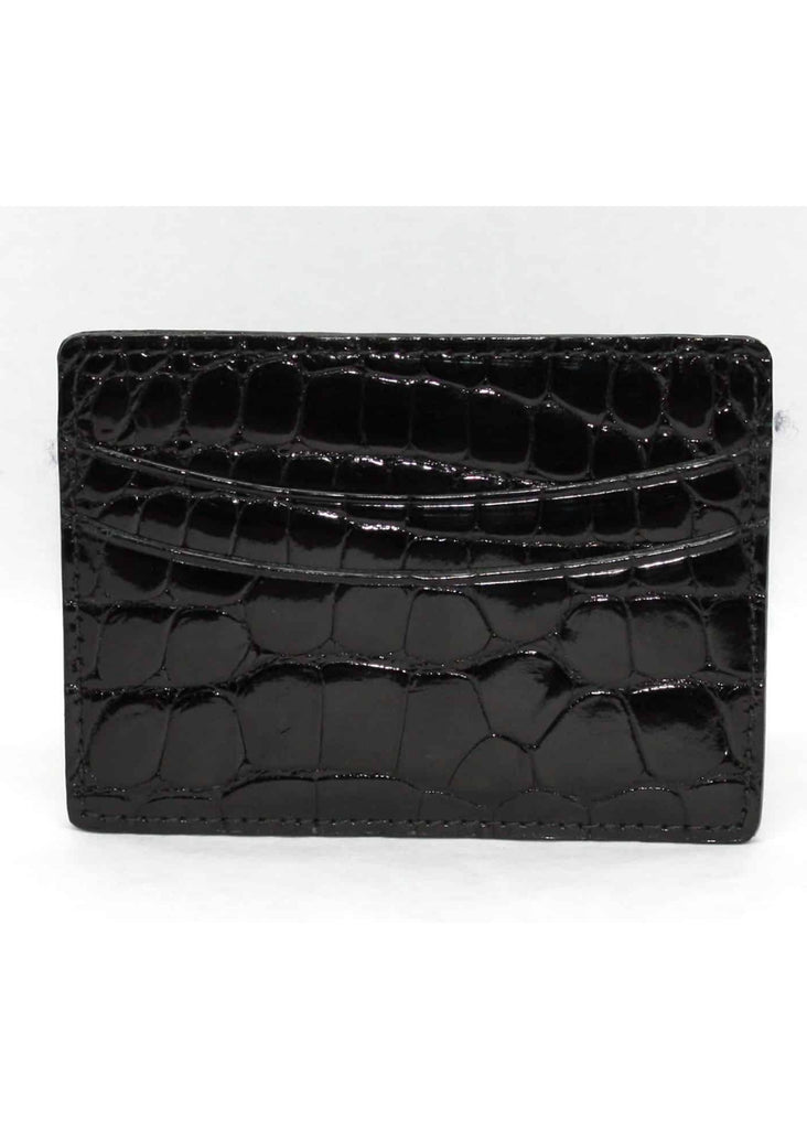 Torino Genuine Alligator Business Card  ID Case | Black - Jordan Lash Charleston