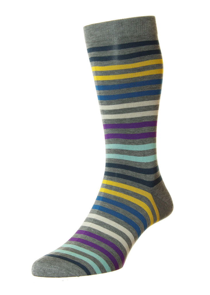 Pantherella Kilburn Sock | Mid Grey Mix - Jordan Lash Charleston