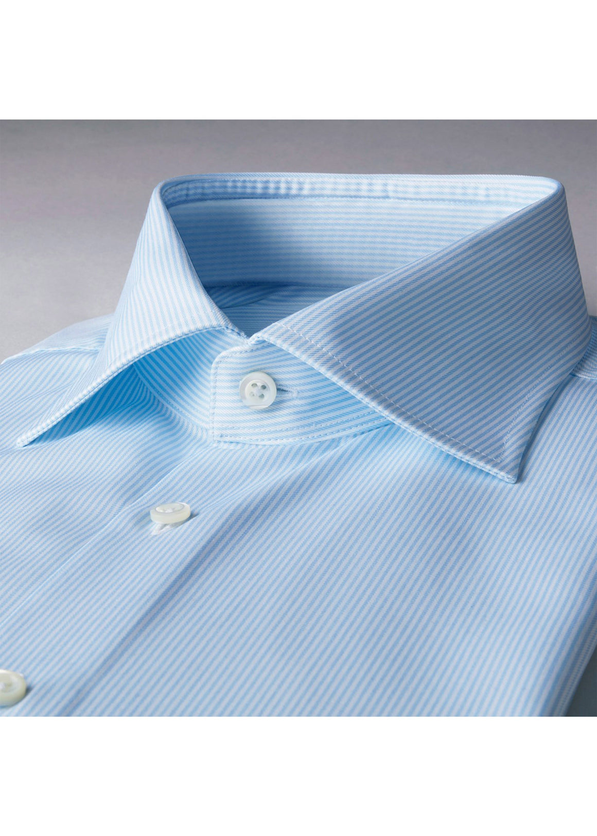 Stenstroms Light Blue Pinstriped Fitted Body Shirt