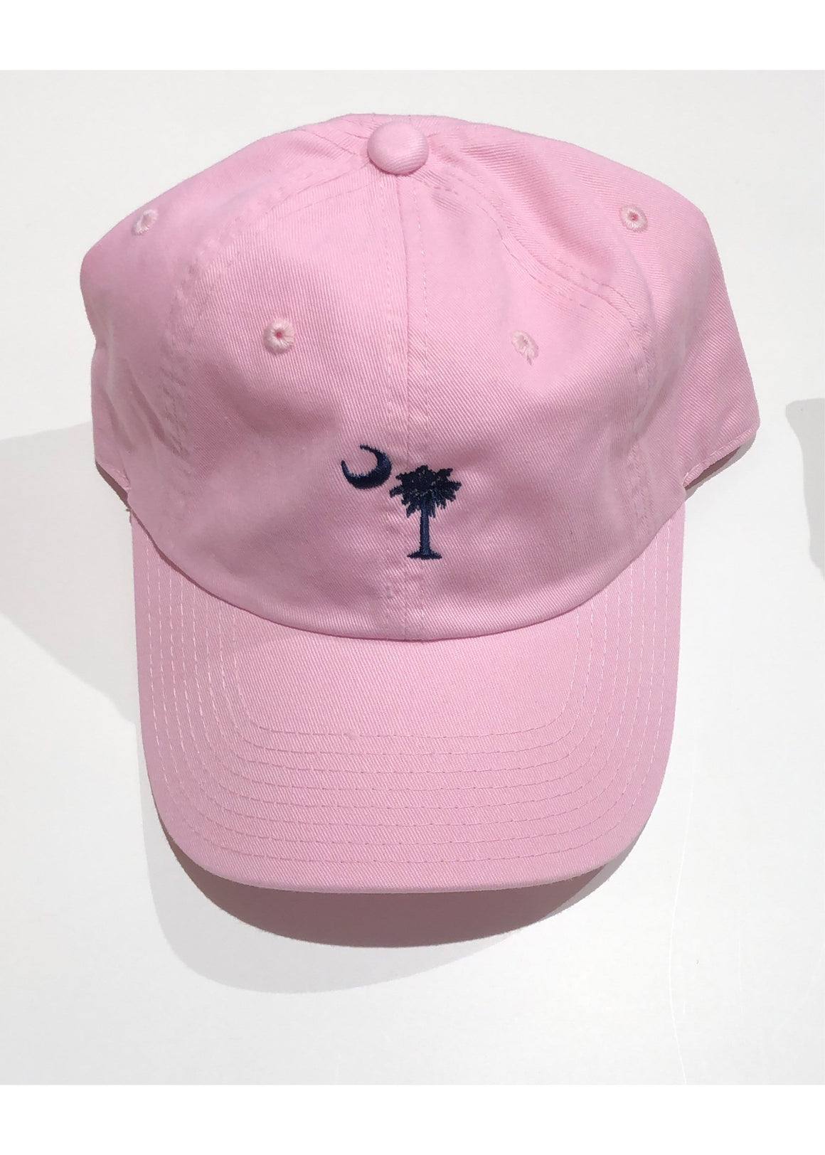 Washed Slouch Embroidered Palmetto Hat | Light Pink