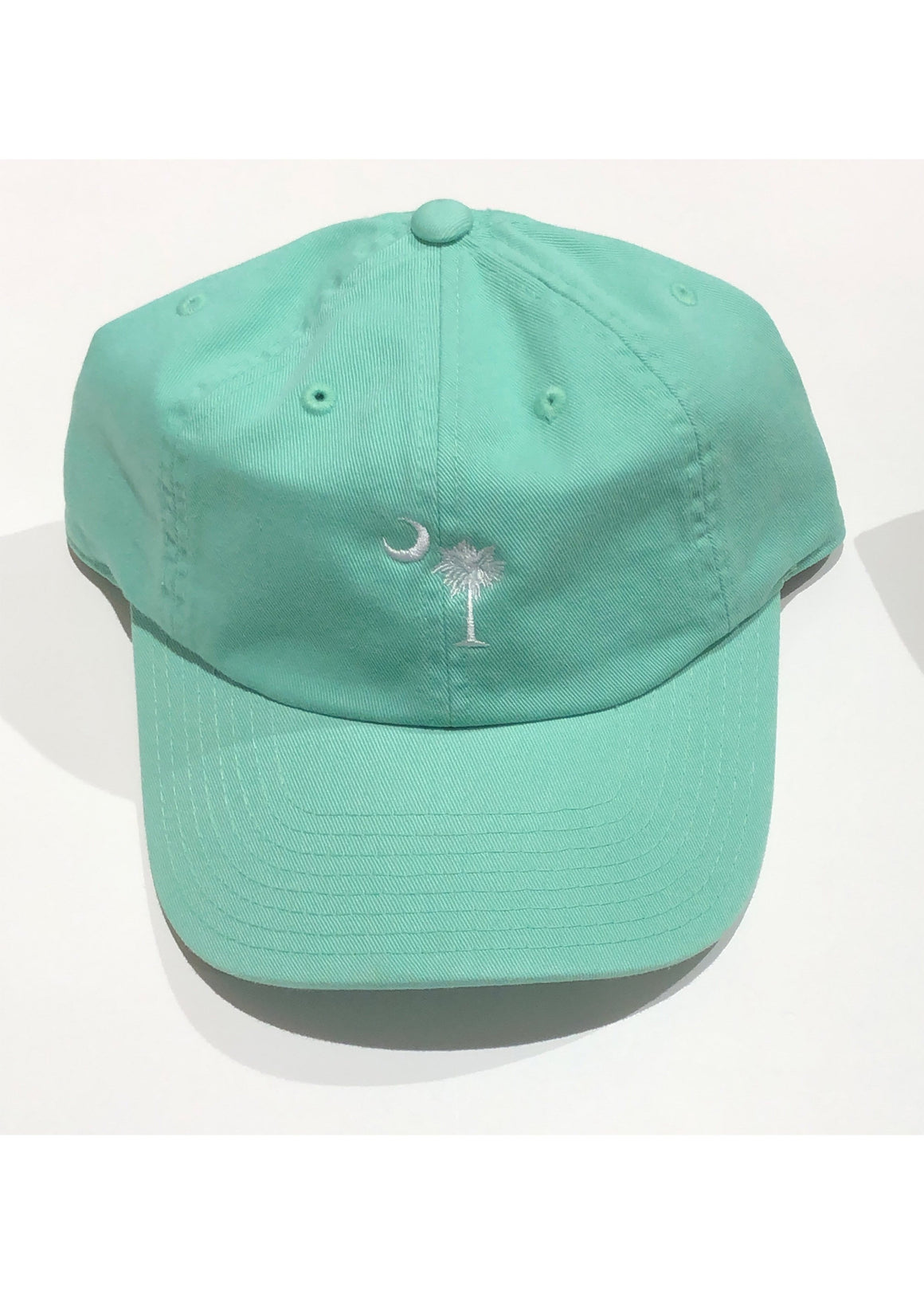Washed Slouch Embroidered Palmetto Hat | Mint