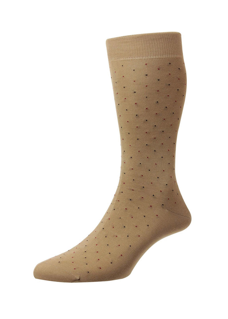 Pantherella Regent Socks | Light Khaki - Jordan Lash Charleston