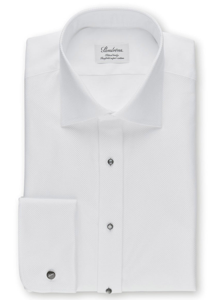 Stenstroms White Fitted Body Evening Shirt - Jordan Lash Charleston