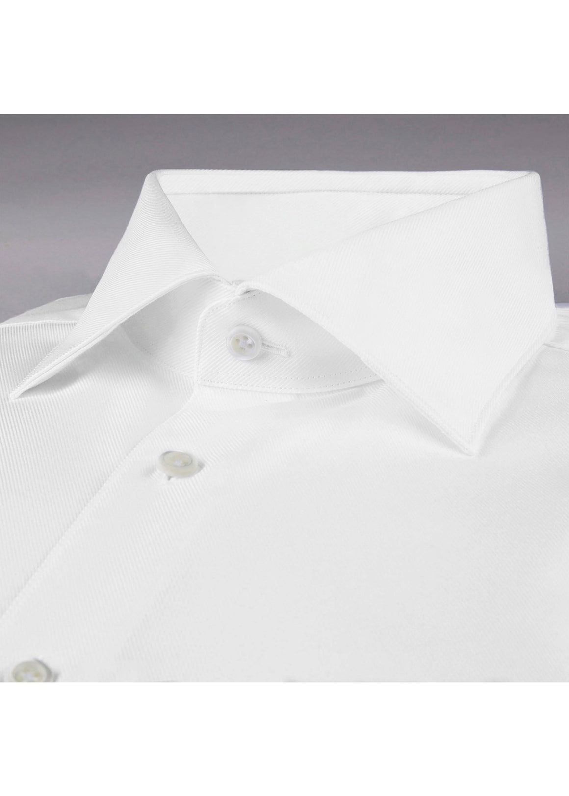 Stenstroms White Fitted Body Shirt In Textured Twill