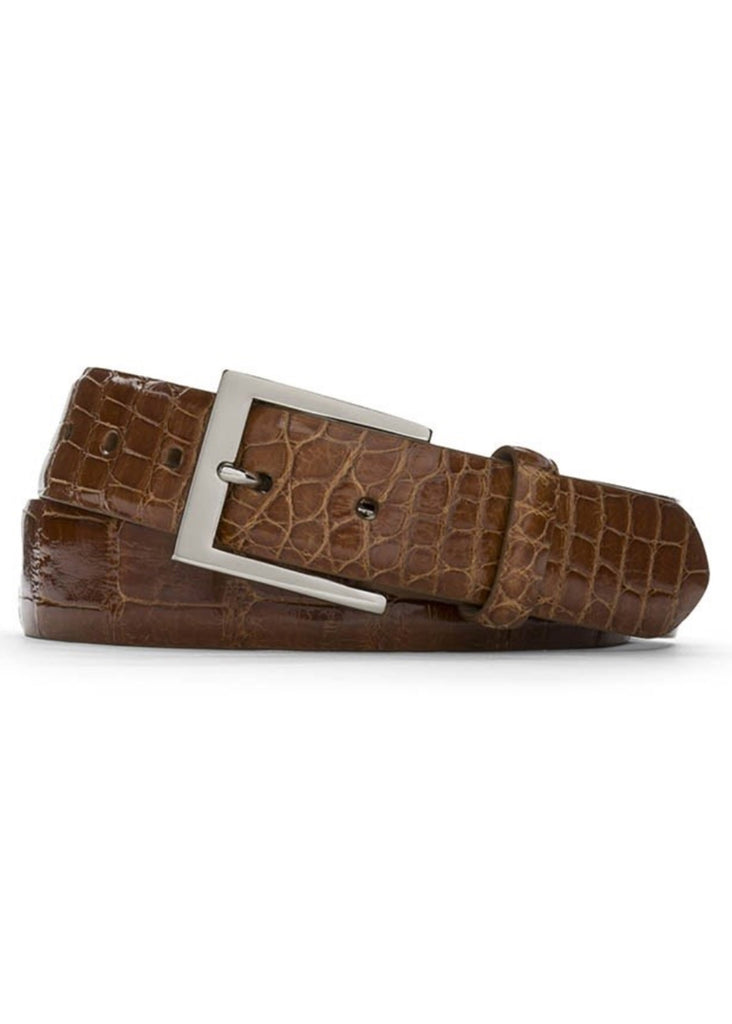 W. Kleinberg Glazed Alligator Belt | Cognac - Jordan Lash Charleston