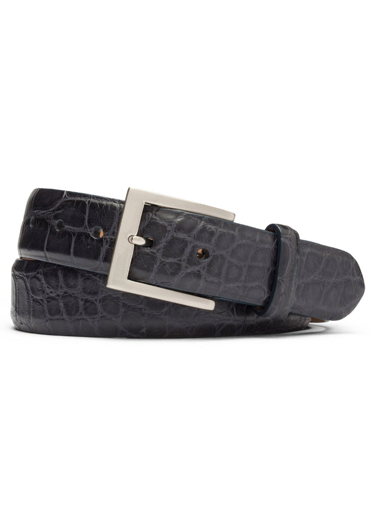 W. Kleinberg Matte Alligator Belt | Black - Jordan Lash Charleston