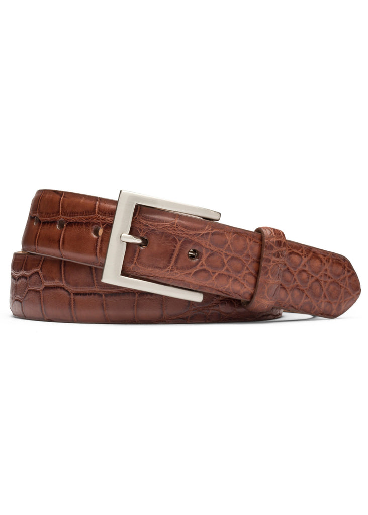 "W. Kleinberg 1 3/8"" Matte Alligator Belt 