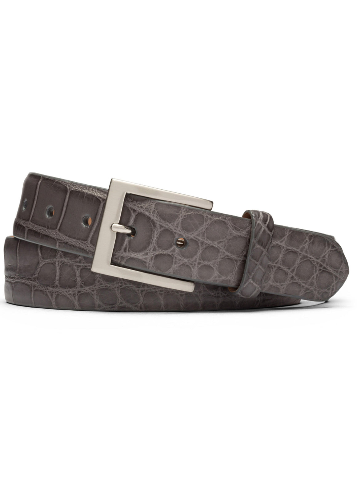 W. Kleinberg Glazed Alligator Belt | Grey