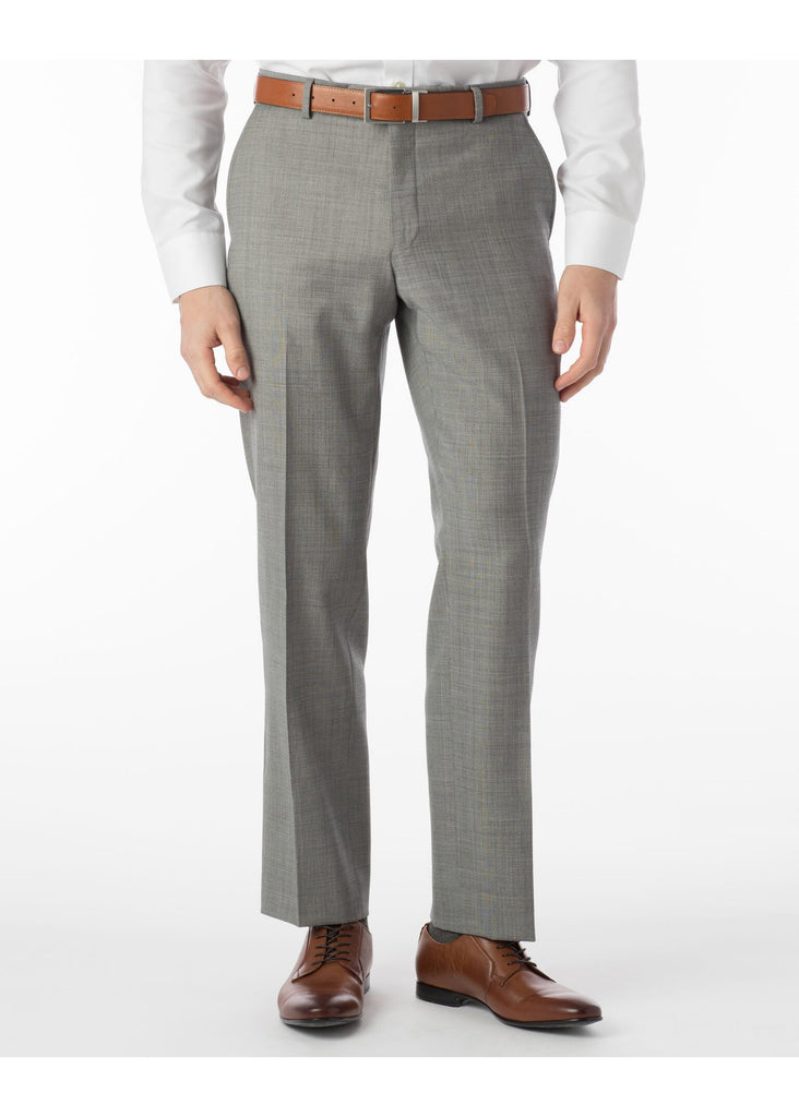 Ballin Super 110's Comfort Eze Sharkskin Soho Dress Pants | Black and White - Jordan Lash Charleston