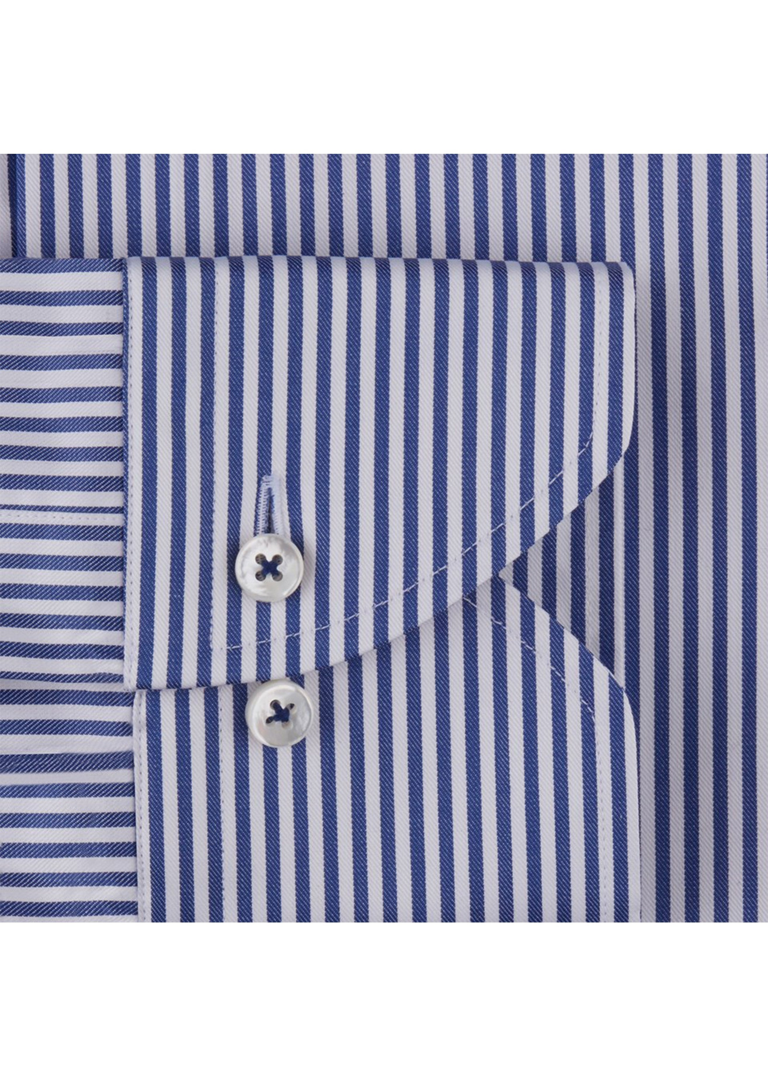 9fdc4456a4f4 Stenstroms Blue Cadet Striped Fitted Body Shirt