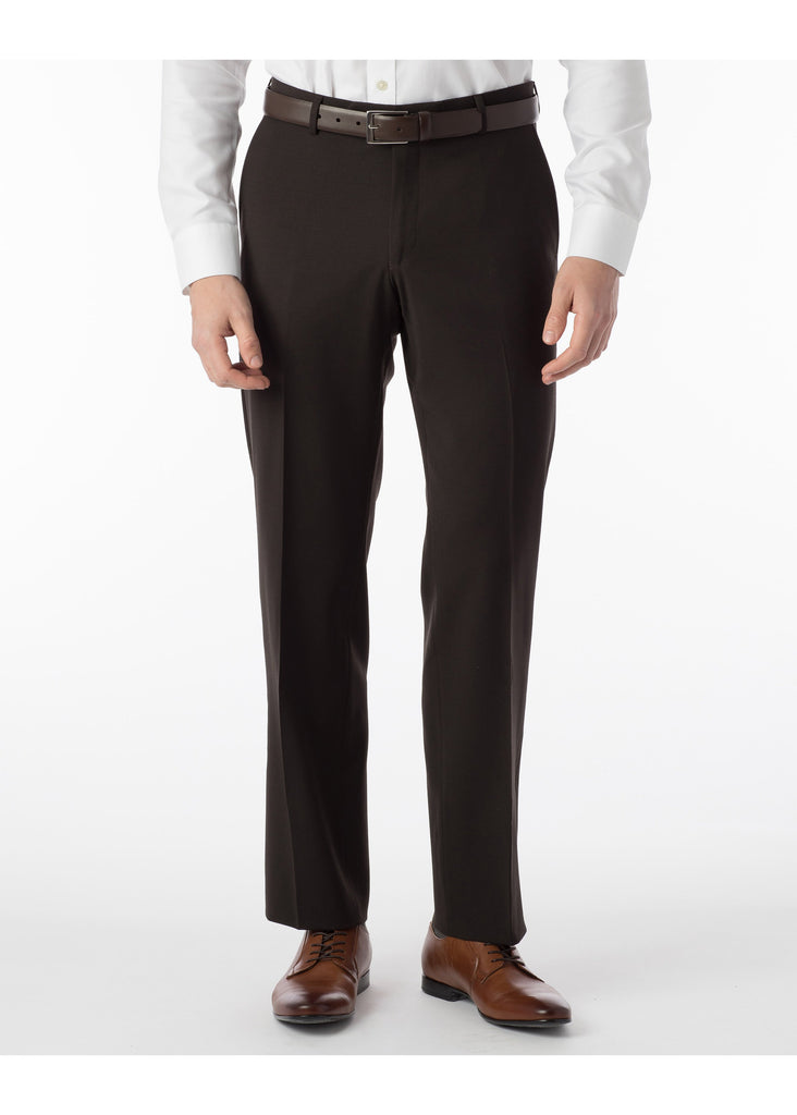 Ballin Super 120's Comfort Eze Gaberdine Soho Dress Pants | Brown - Jordan Lash Charleston