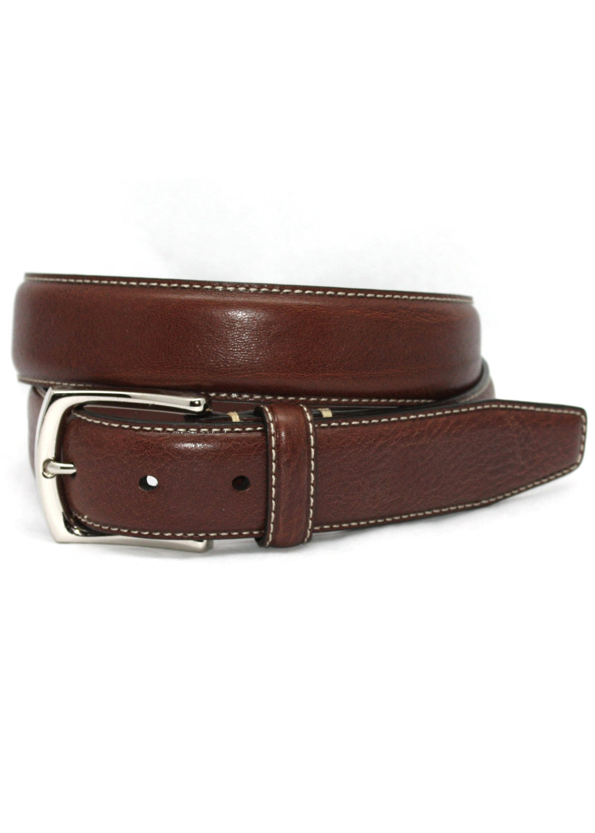 Torino Burnished Tumbled Leather Belt | Brown