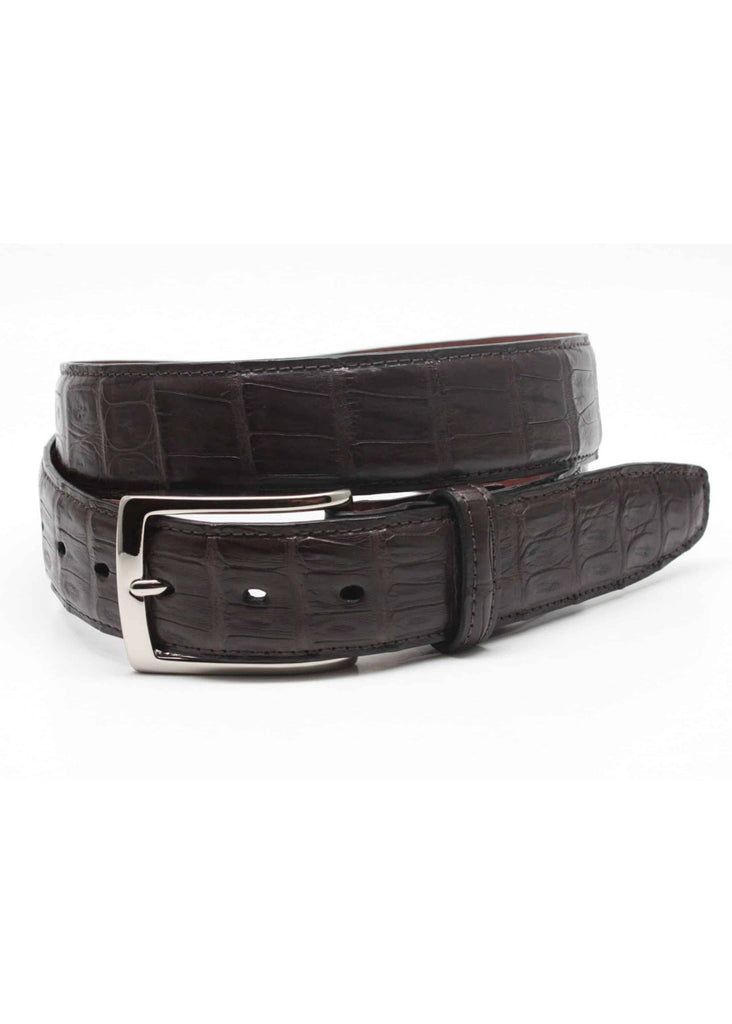 Torino South American Caiman Crocodile Belt | Brown - Jordan Lash Charleston