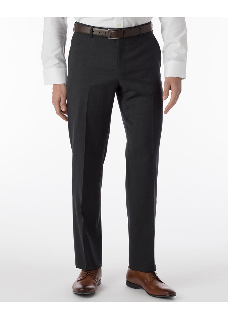 Ballin Super 120's Comfort Eze Gaberdine Soho Dress Pants | Charcoal - Jordan Lash Charleston