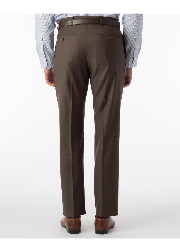 Ballin Super 110's Comfort Eze Sharkskin Soho Dress Pants | Chestnut - Jordan Lash Charleston