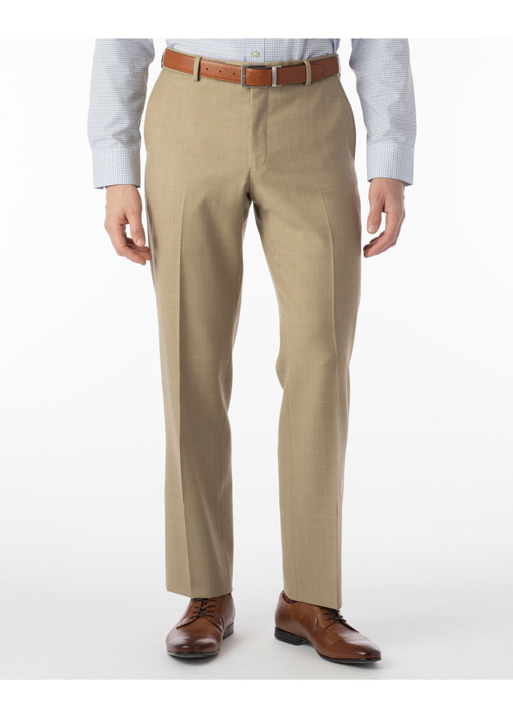 Ballin Super 110's Comfort Eze Sharkskin Soho Dress Pants | Camel - Jordan Lash Charleston