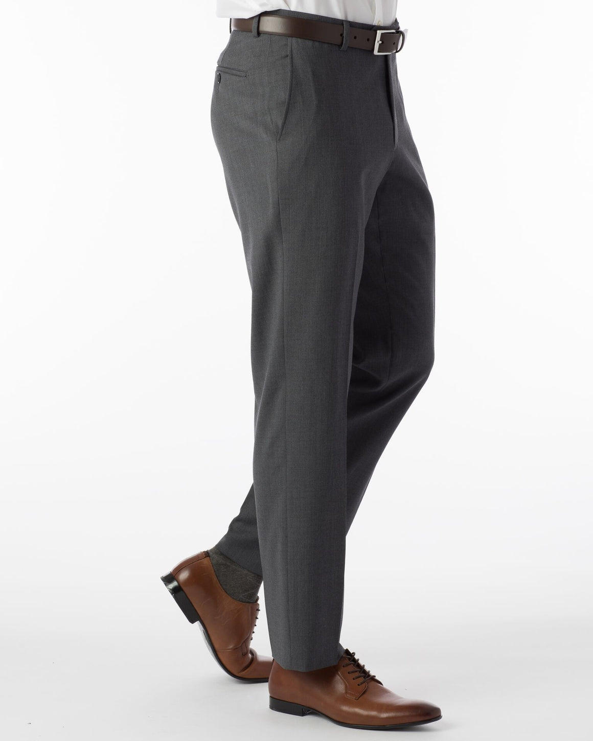 Ballin Super 120's Comfort-Eze Gaberdine Soho Dress Pant | Mid Grey