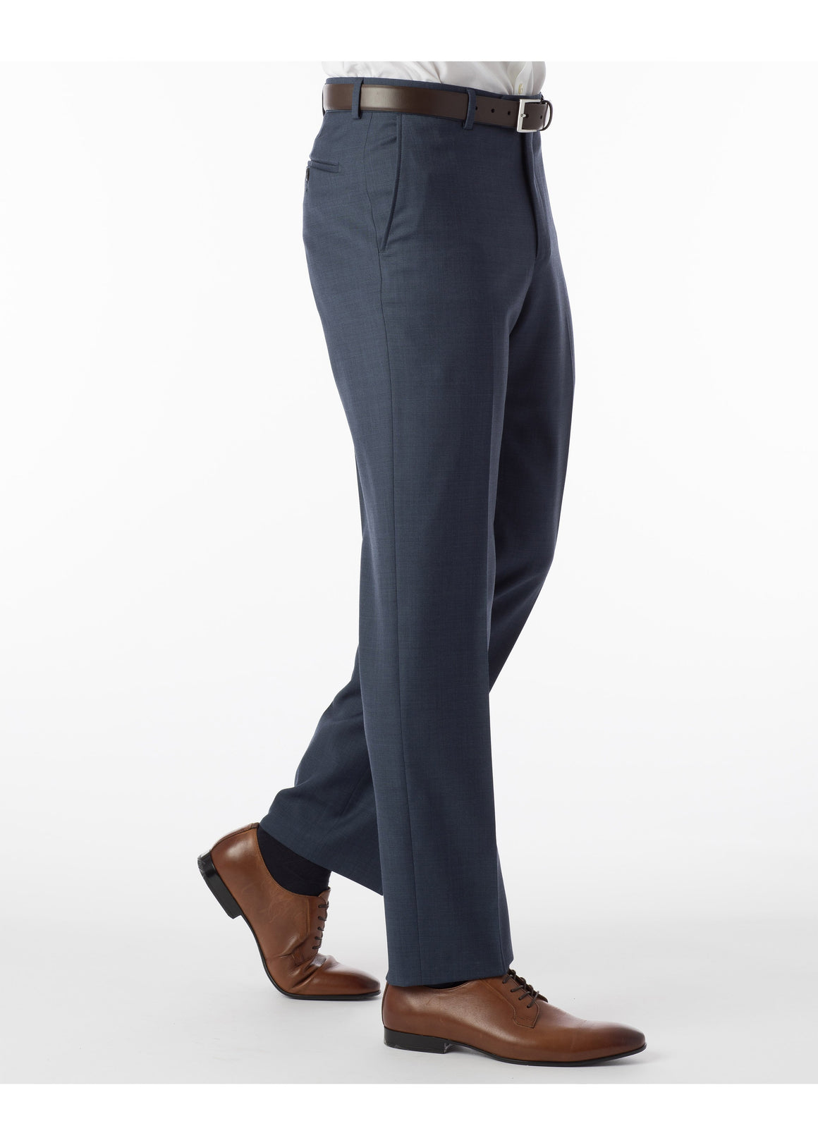 Ballin Super 110's Comfort Eze Sharkskin Soho Dress Pants | New Navy