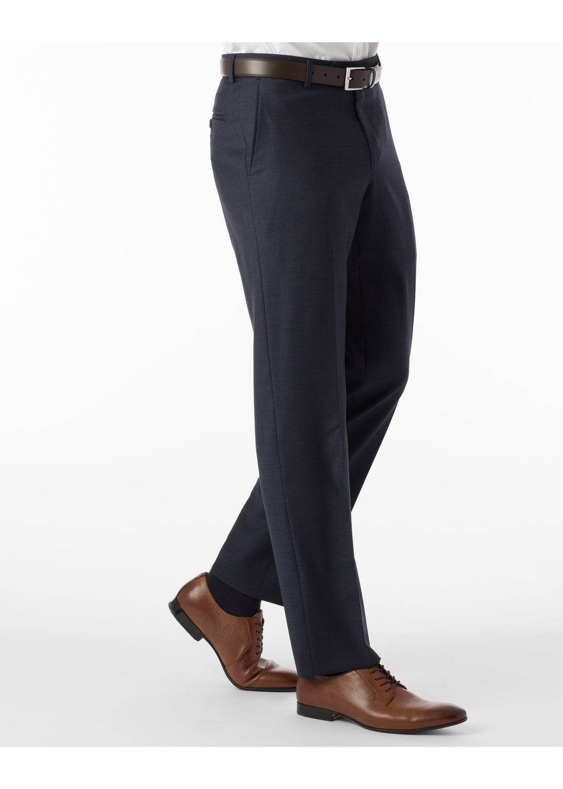 Ballin Super 110's Comfort Eze Sharkskin Soho Dress Pants | Navy