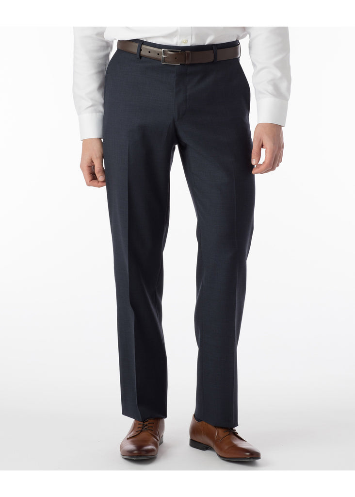 Ballin Super 110's Comfort Eze Sharkskin Soho Dress Pants | Navy - Jordan Lash Charleston