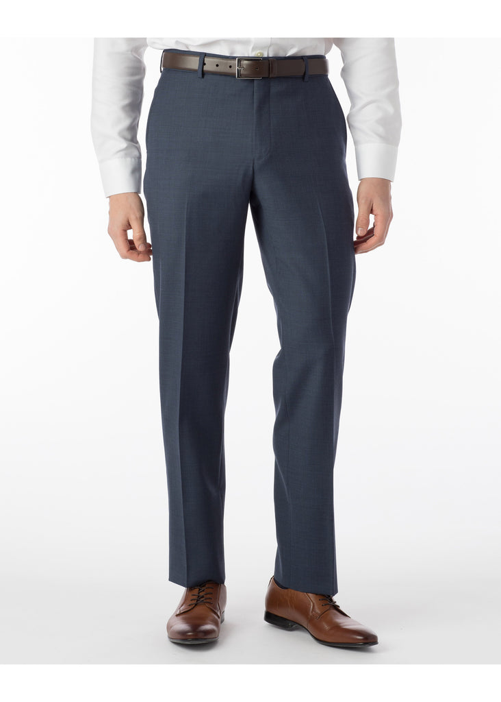 Ballin Super 110's Comfort Eze Sharkskin Soho Dress Pants | New Navy - Jordan Lash Charleston