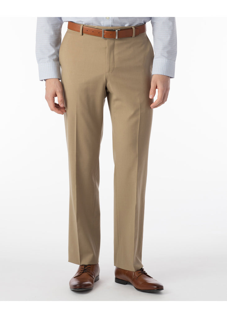 Ballin Super 120's Comfort Eze Gaberdine Soho Dress Pants | Tan - Jordan Lash Charleston