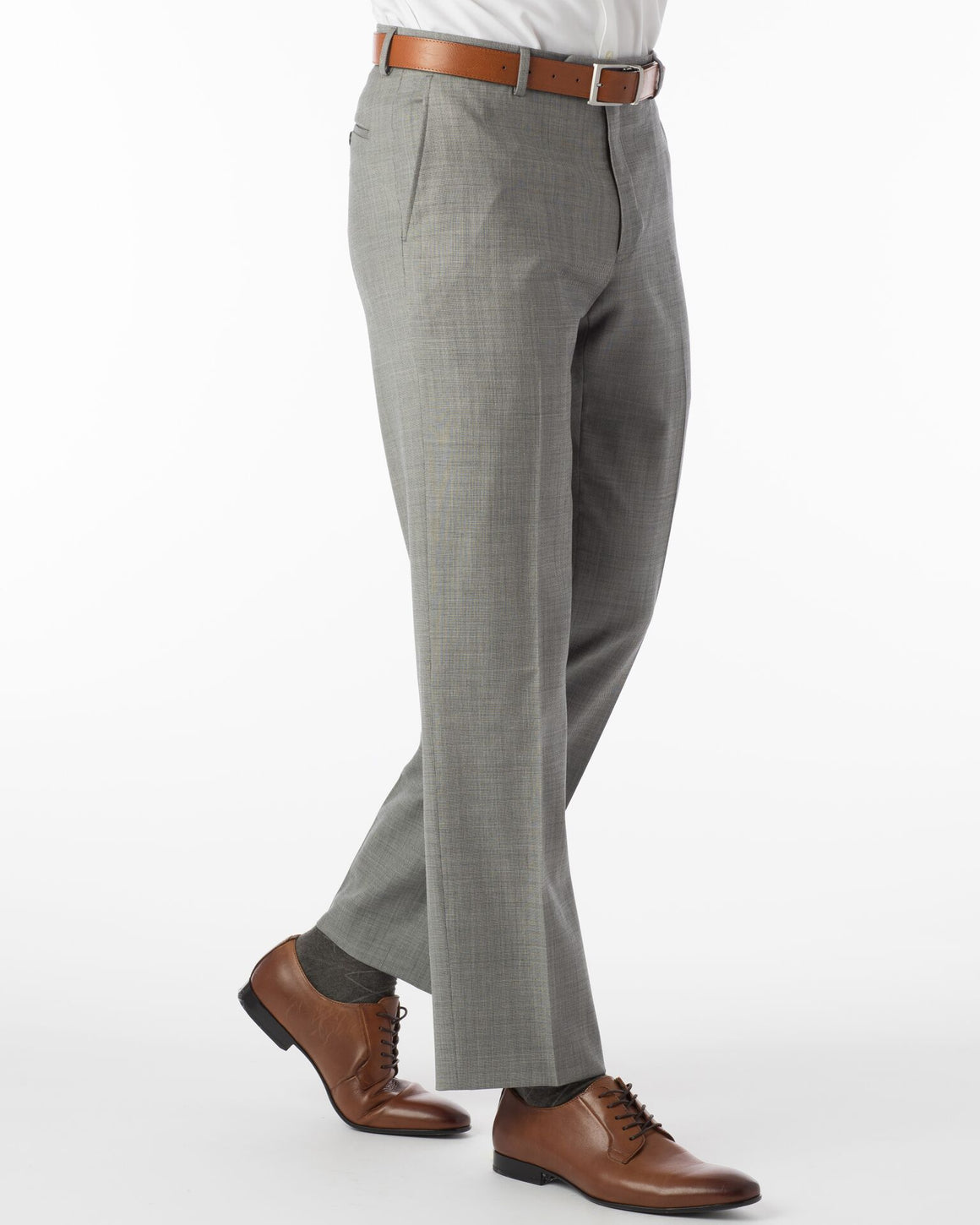 Ballin Super 110's Comfort-Eze Sharkskin Soho Dress Pant | Black and White