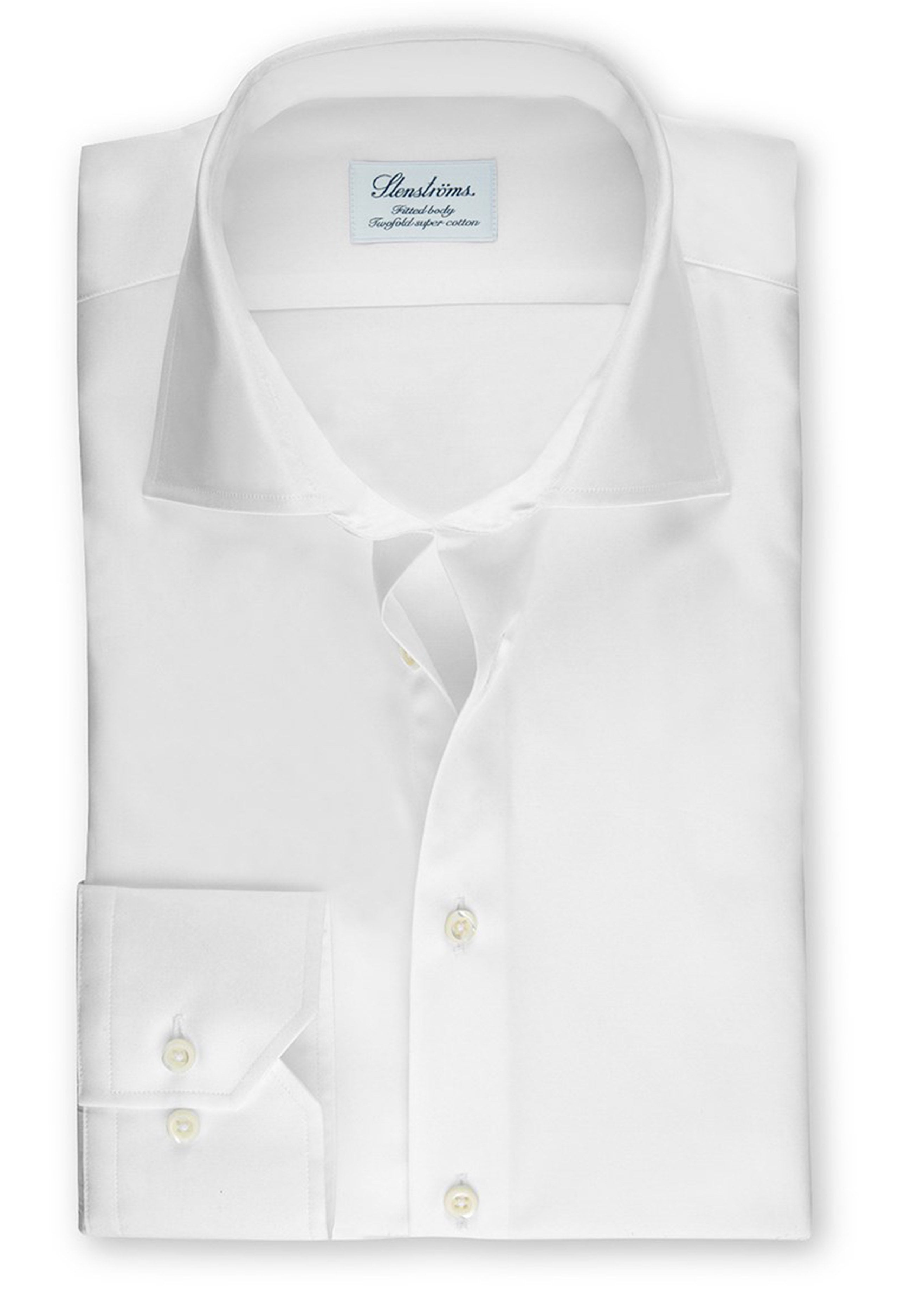 3169b03f2f82 Stenstroms White Fitted Body Shirt In Superior Twill