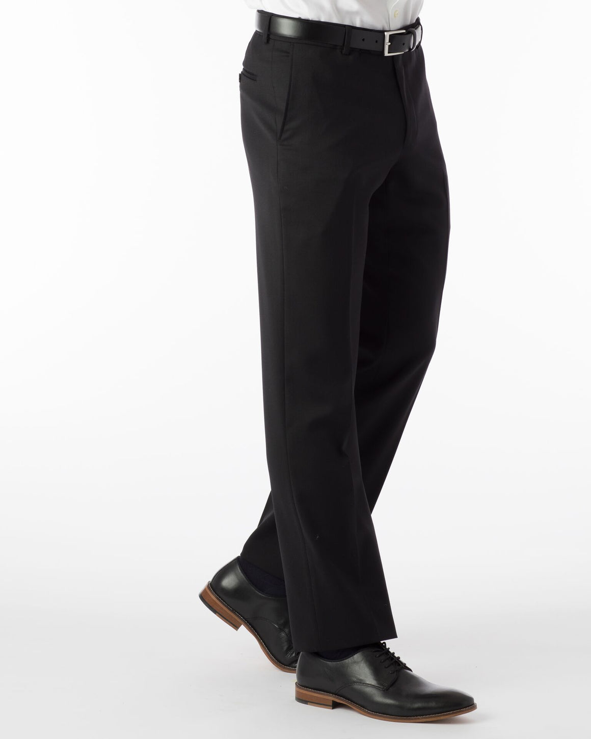Ballin Super 120's Comfort-Eze Gaberdine Soho Dress Pant | Black