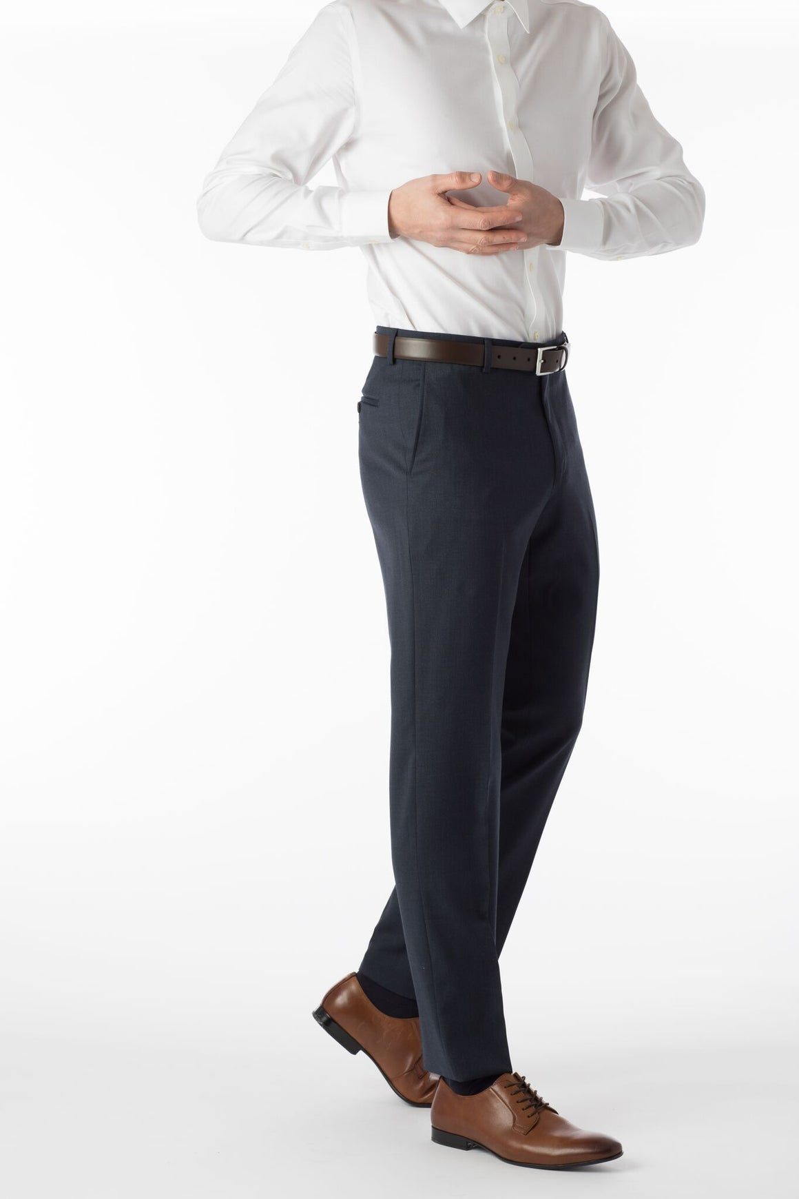 Ballin Super 120's Comfort-Eze Gaberdine Soho Dress Pant | Navy Mix
