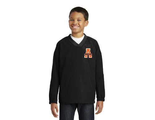 Mcanally Youth V-Neck Raglan Wind Shirt