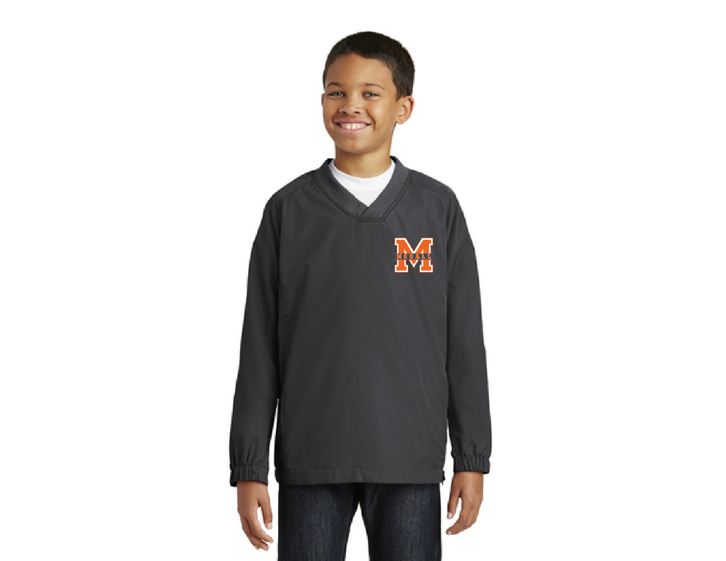 Mccall Youth V-Neck Raglan Wind Shirt