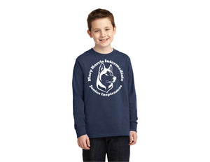 Port & Company® Youth Long Sleeve Core Cotton Tee