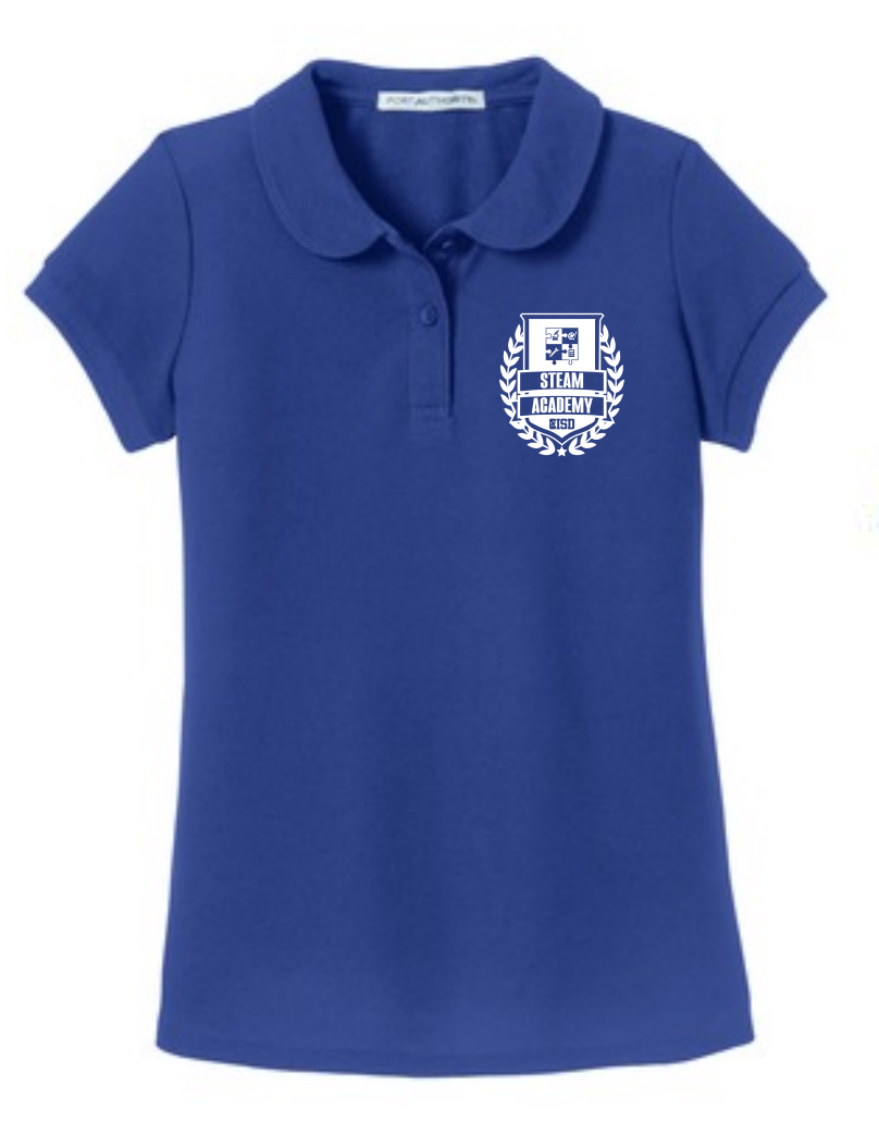 Ladies Blue Steam Academy Polo