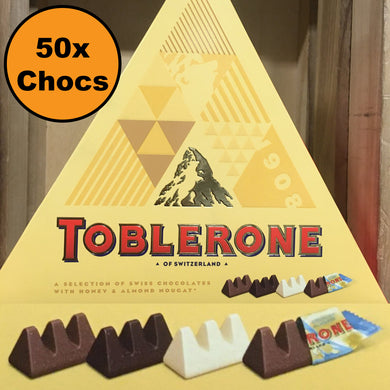 50x Mini Toblerone Chocolates (2 Gift Boxes of 25x8g)
