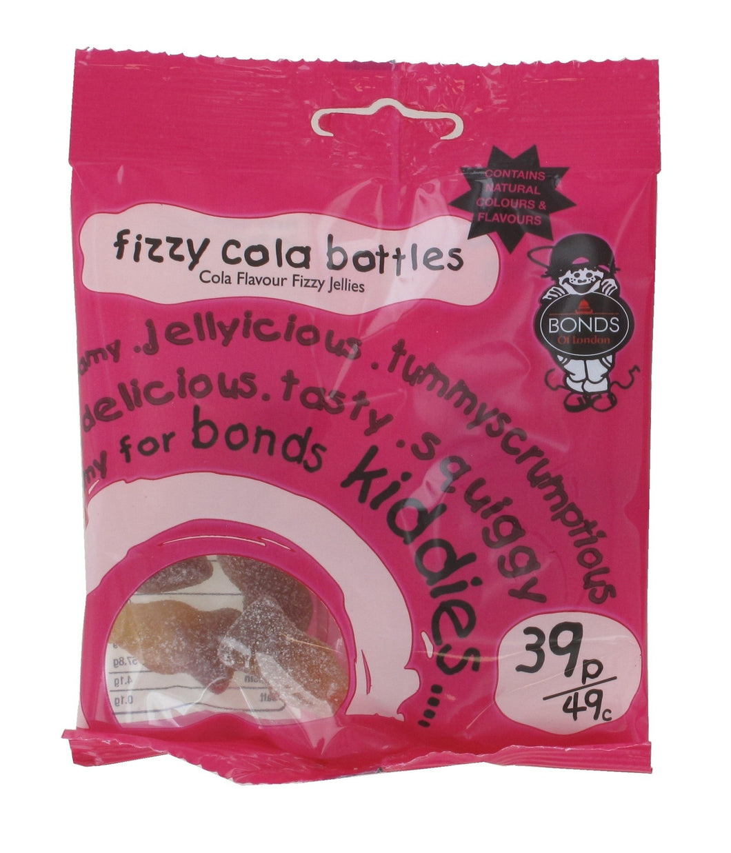 Bonds Fizzy Cola Bottles 50g