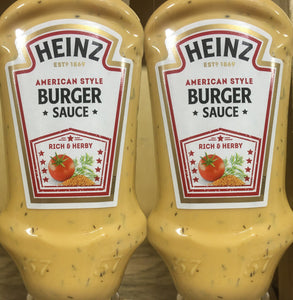 2x Heinz American Style Burger Sauces (2x220ml)
