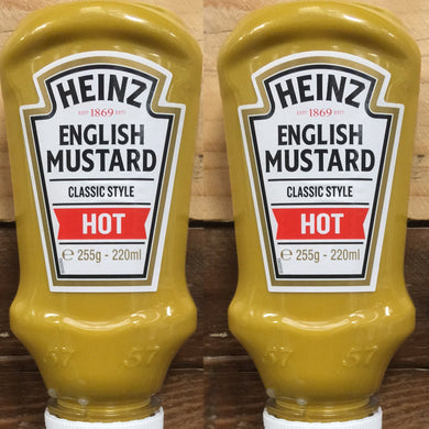 2x Heinz English Mustard Classic Style Hot (2x220ml)