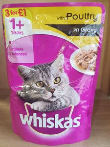 Whiskas Meaty Pouches with Poultry in Gravy 100g