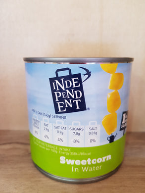 Independent Sweetcorn in Water 340g