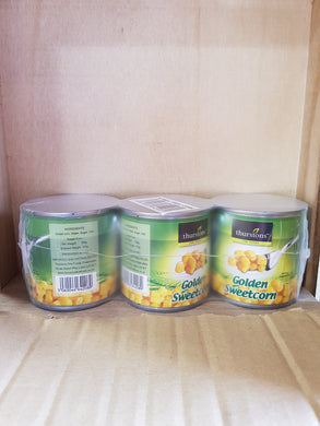 Thurstons Sweetcorn 3 Pack Tins 3x184g
