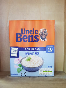 Uncle Bens Boil-in-Bag Basmati Rice 4x Bags 500g