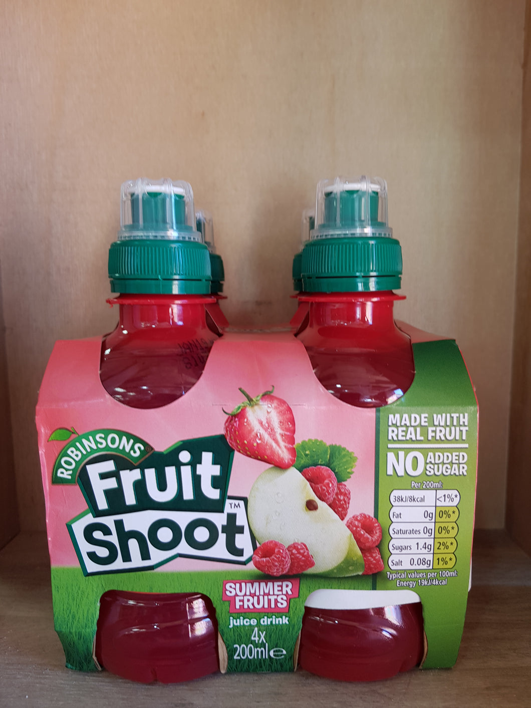 Robinsons Fruit Shoot Summer Fruits No Added Sugar 4 x 200ml