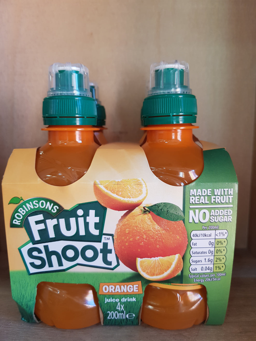 Robinsons Fruit Shoot Orange No Added Sugar 4 x 200ml