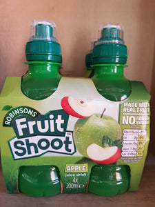 Robinsons Fruit Shoot Apple No Added Sugar 4 x 200ml