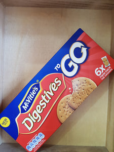 12x McVitie's Digestives To Go Twin Pack Biscuits 6x 33.3g (Case)