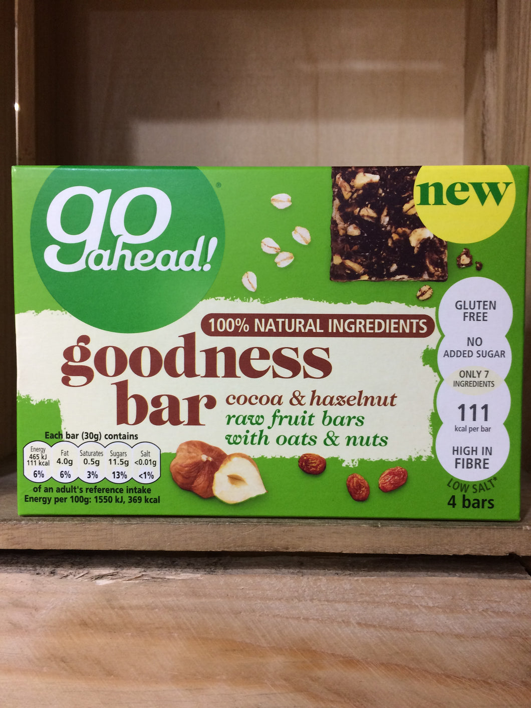 Go Ahead Coca & Hazelnut Goodness Bar 4 Pack (4x30g)