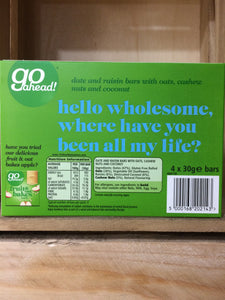 Go Ahead Coconut, Oats & Nuts Goodness Bar 4 Pack (4x30g)